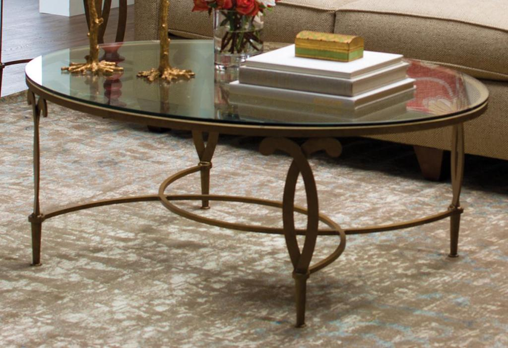 Image of: Oval Glass Top Coffee Table Design