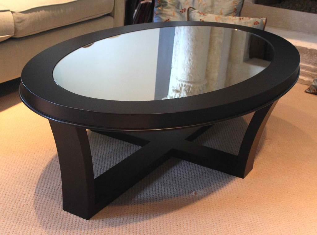 Image of: Oval Glass Top Coffee Table Furniture