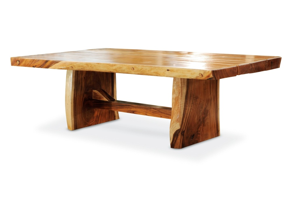 Image of: Oval Wood Slab Dining Table