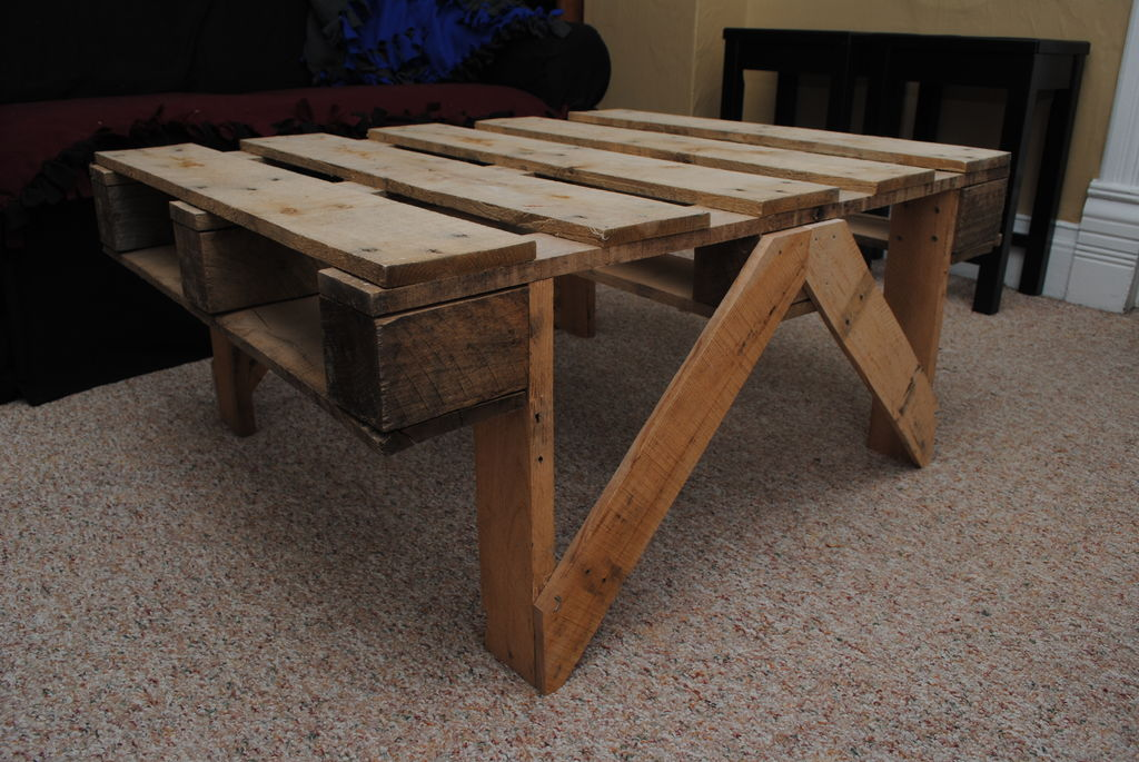 Image of: Pallet Coffee Table Image