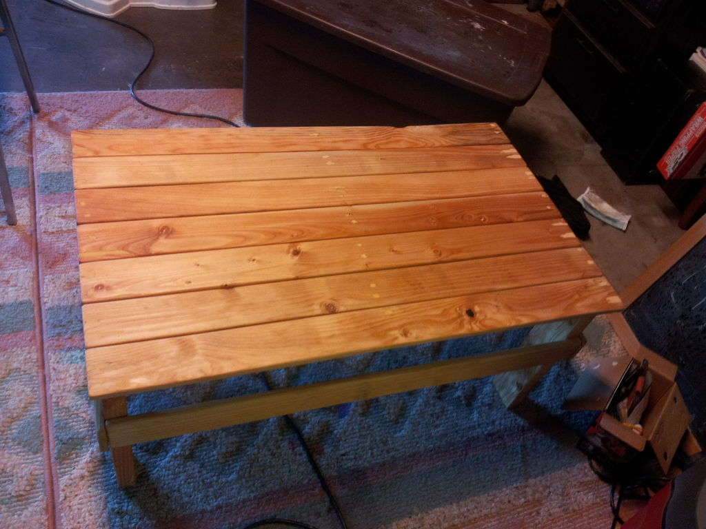Picture of: Pallet Coffee Table Photo