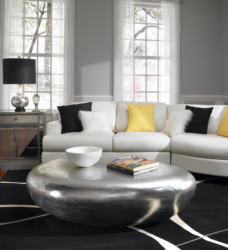 Image of: Parsons Coffee Table Round