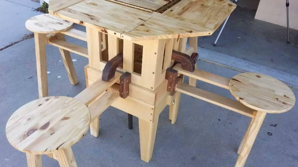 Picture of: Parts For Foldable Picnic Table Design Ideas