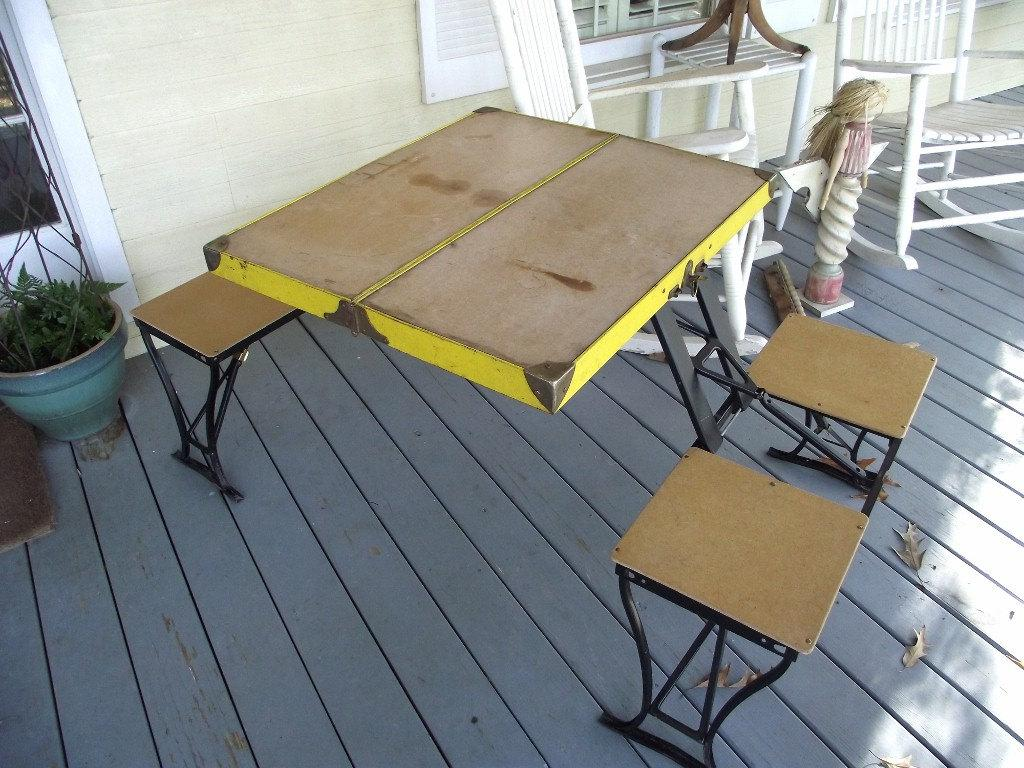 Picture of: Parts For Foldable Picnic Table Design