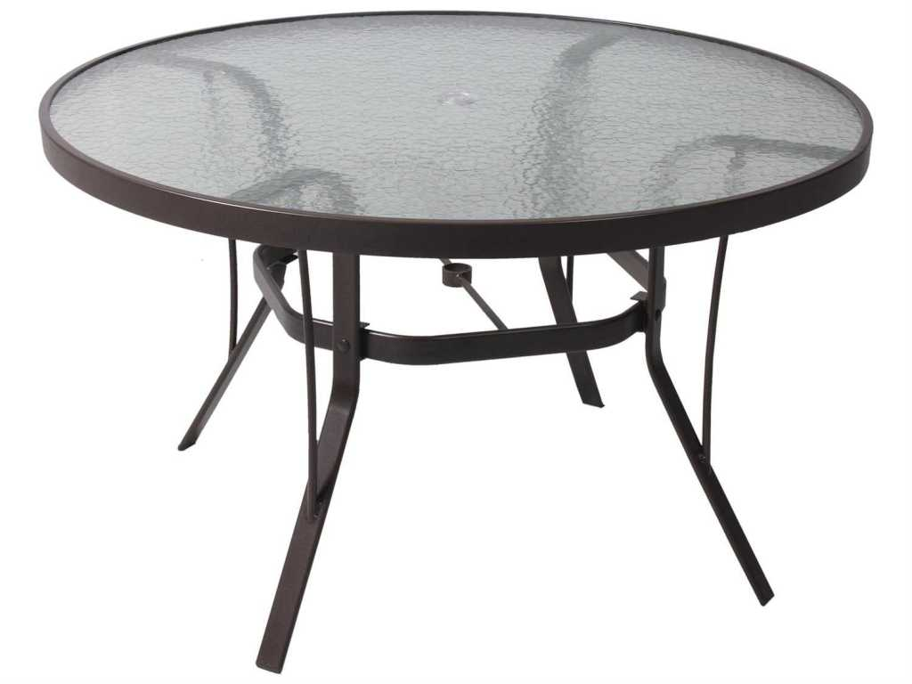 Image of: Patio Dining Table Glass Top