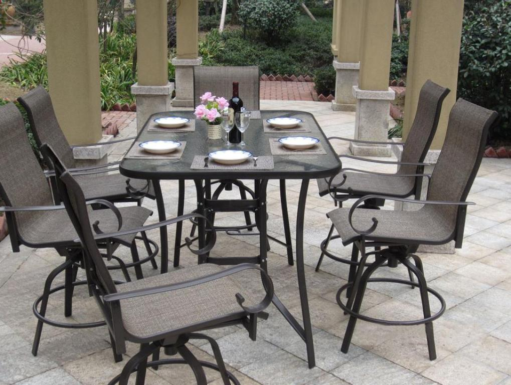 Image of: Patio Dining Table Set