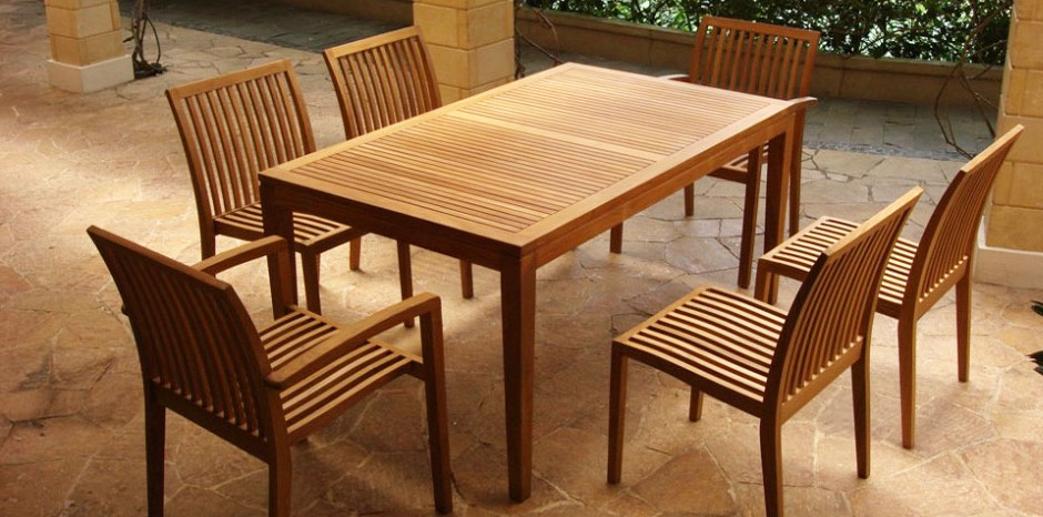 Picture of: patio teak wood table