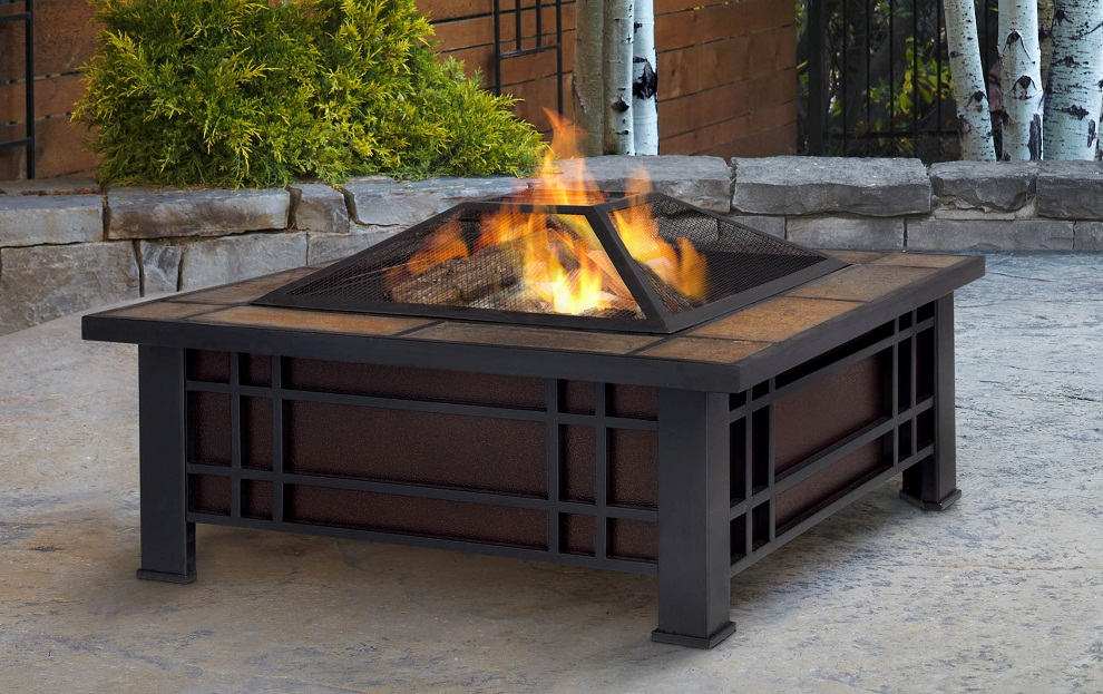 Picture of: Patio Wood Burning Fire Pit Table