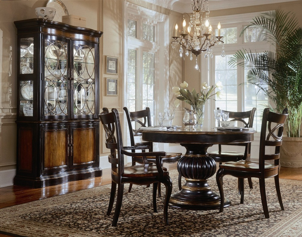 Image of: Pedestal Dining Room Table Material