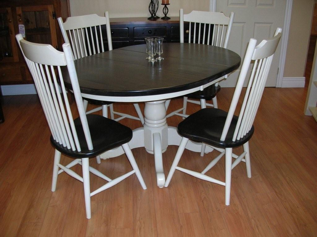 Image of: Pedestal Dining Room Table Paint