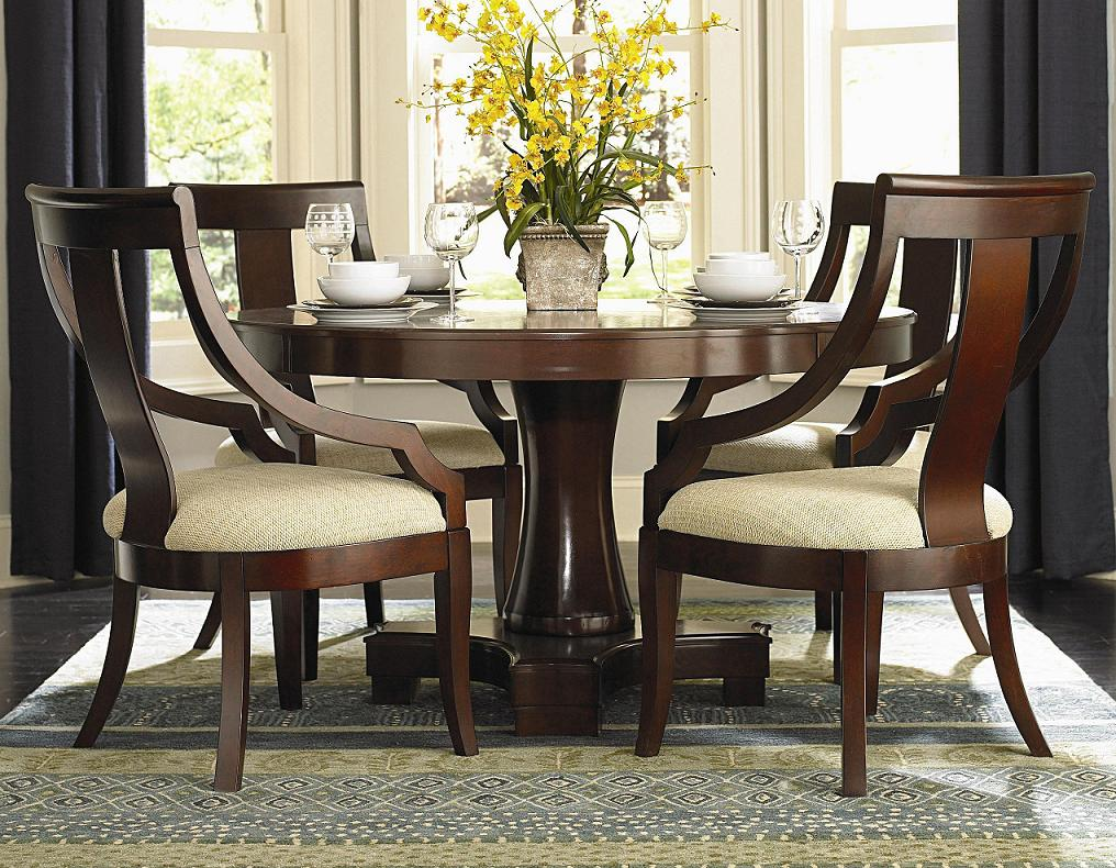 Image of: Pedestal Dining Room Table and Chairs