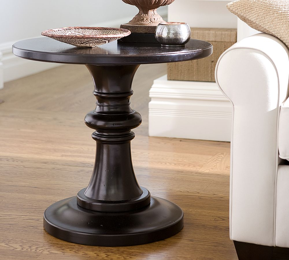 Image of: Pedestal End Table Pottery
