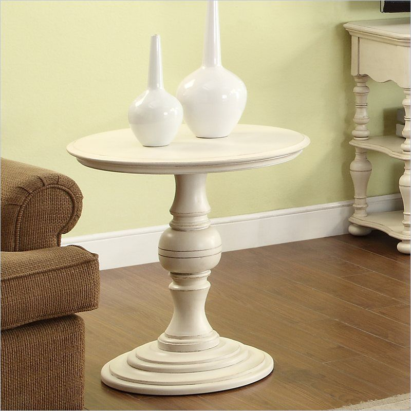 Image of: Pedestal End Table Riverside