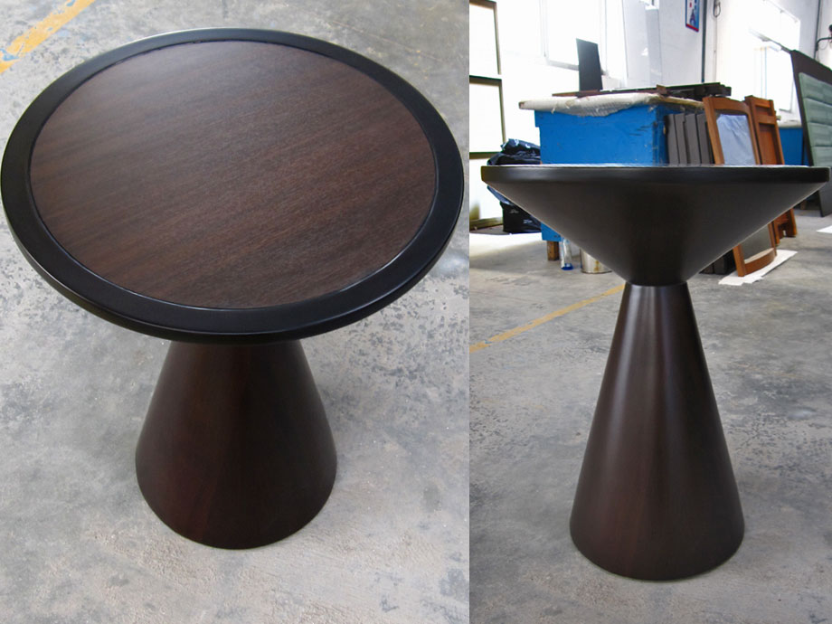 Pedestal End Table Round Side