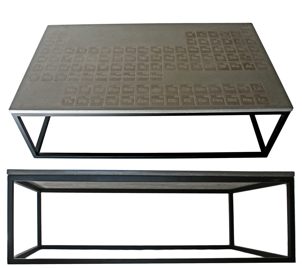 Image of: Periodic Concrete Coffee Table