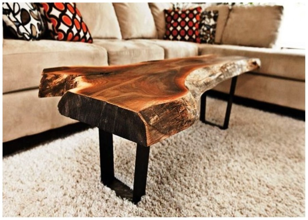 Picture of: Petrified Wood Stump Coffee Table