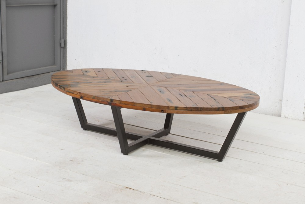 Image of: Picture Oval Wood Coffee Table