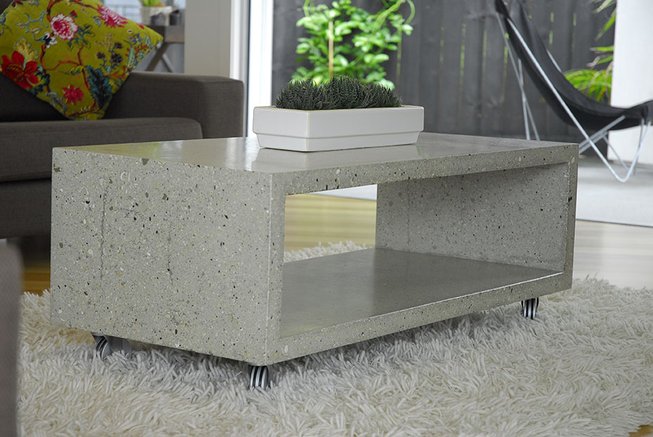 Image of: Polished Concrete Coffee Table