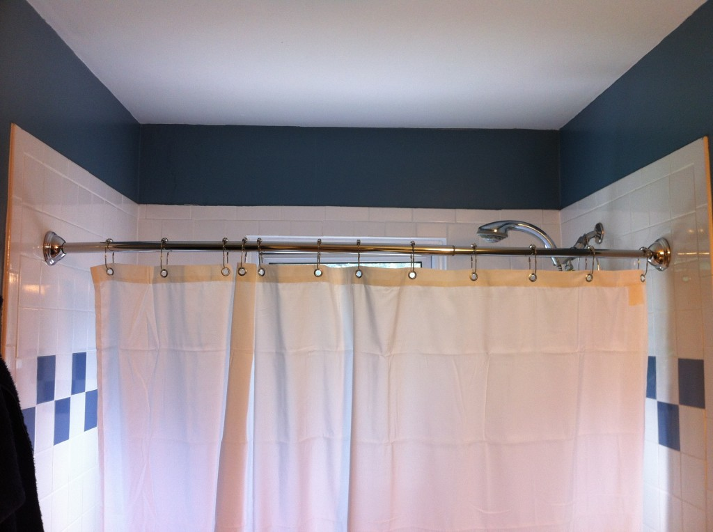 Image of: popular adjustable shower curtain rod
