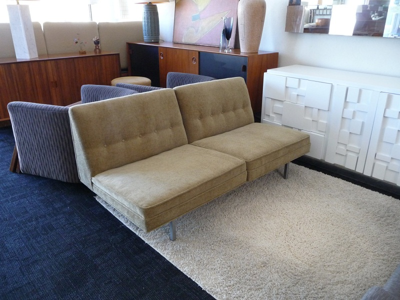 Image of: Popular Mid Century Modern Loveseat