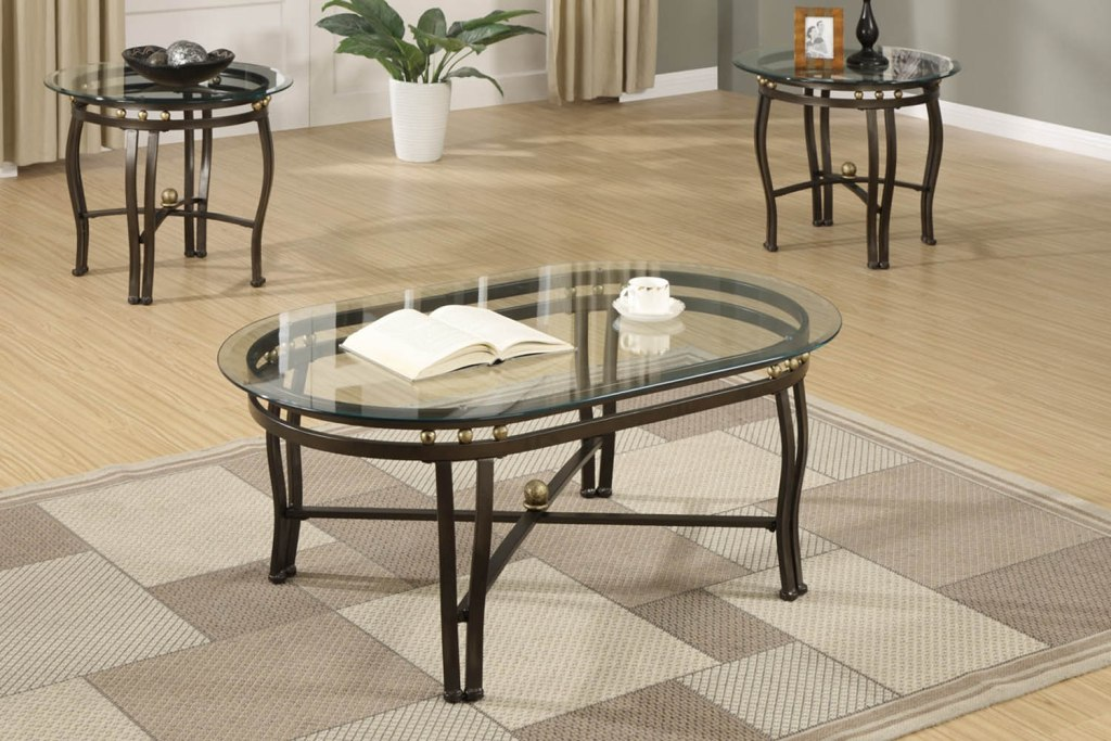 Image of: Popular Oval Glass Top Coffee Table