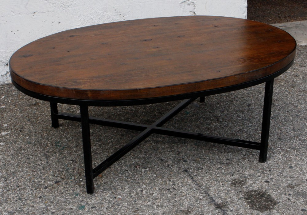 Image of: Popular Oval Wood Coffee Table
