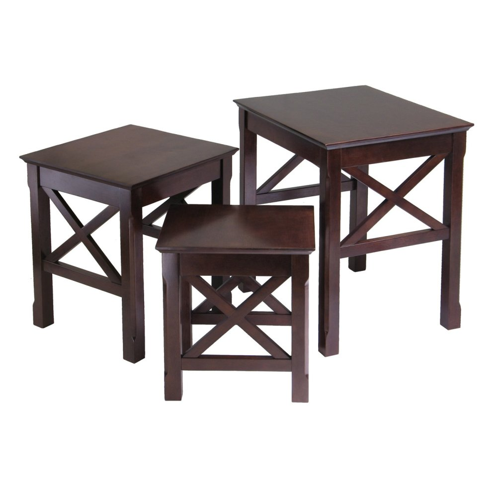 Image of: Popular Wood Nesting Tables