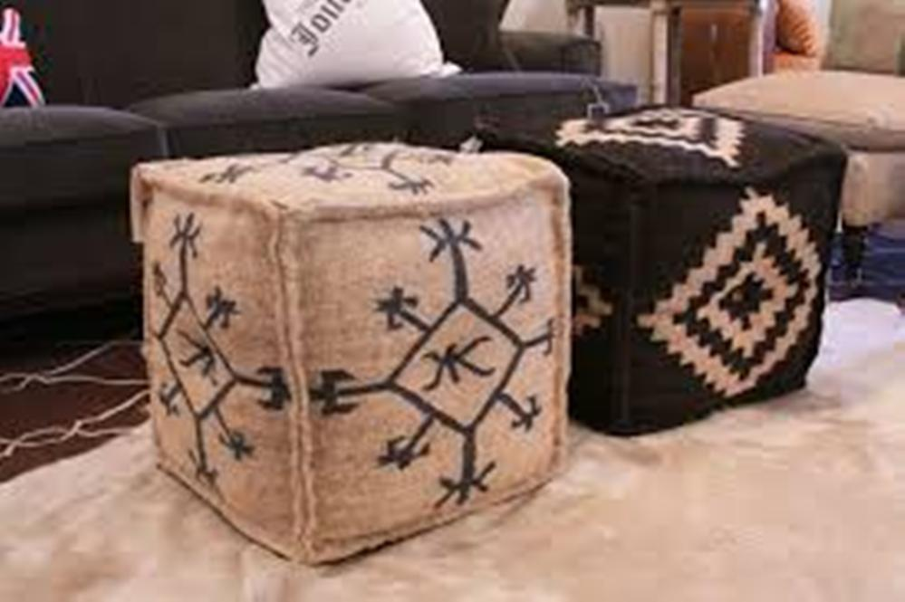 Image of: Poufs and Ottomans Pier One