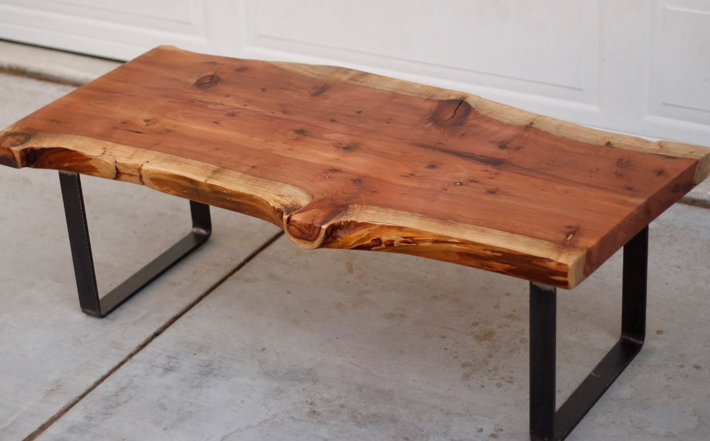 Image of: raw wood coffee table set