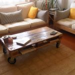Raw Wood Coffee Table With Drawers