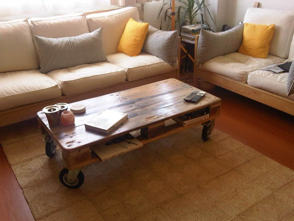 Picture of: raw wood coffee table with drawers