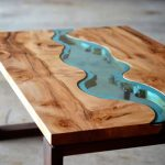 Raw Wood Coffee Table With Glass Top