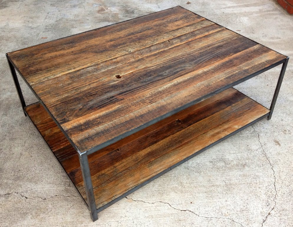 Image of: raw wood coffee table with storage