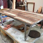 Raw Wood Coffee Table With Wheels