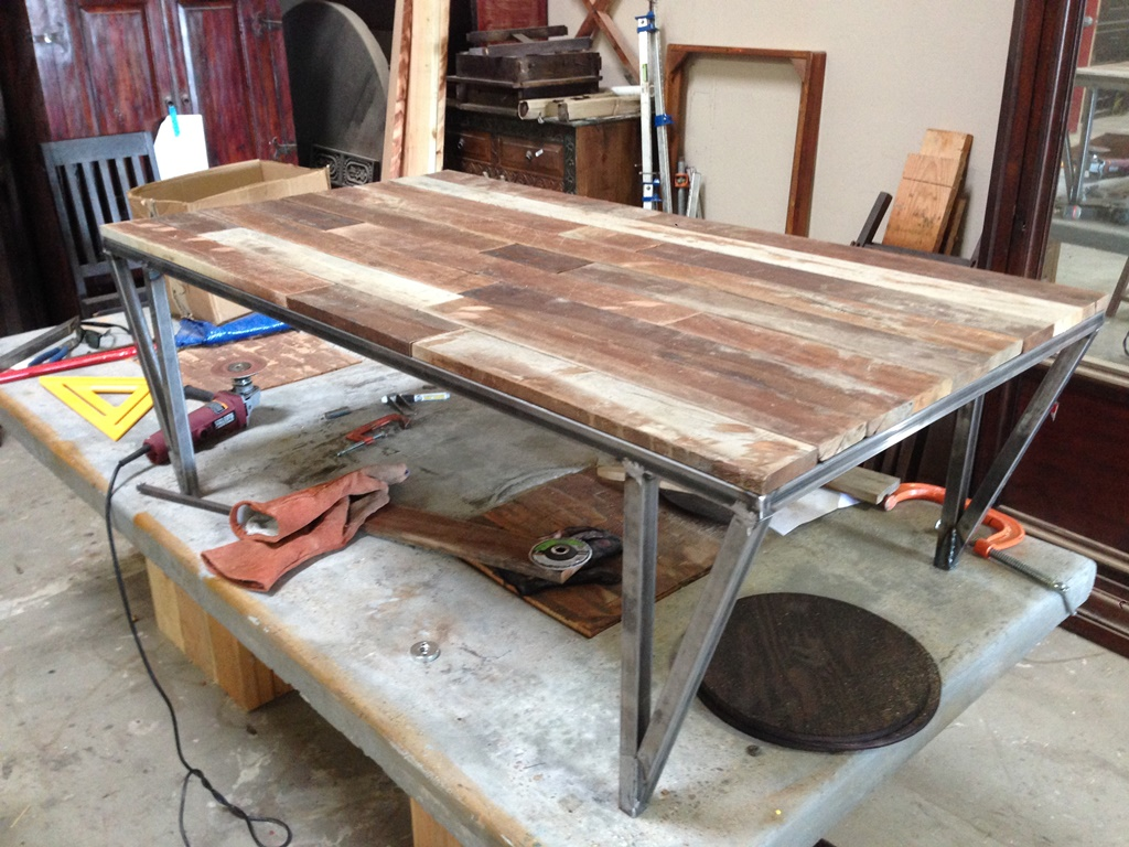 Picture of: raw wood coffee table with wheels