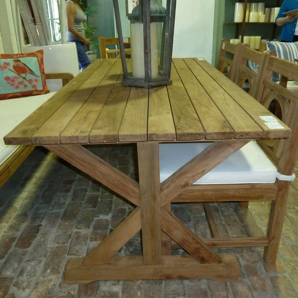 Image of: Reclaimed Teak Outdoor Dining Table