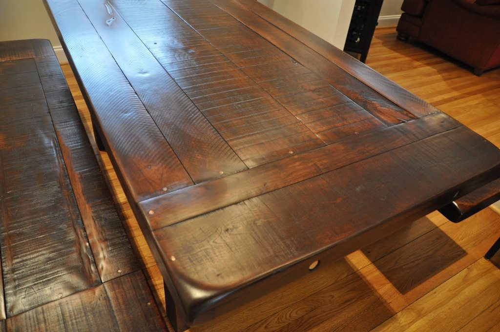 Picture of: reclaimed wood dining room table bases