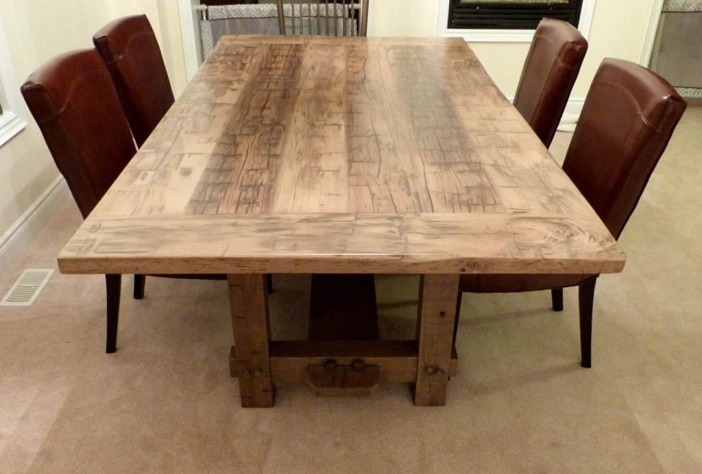 Picture of: reclaimed wood dining room table and chair sets