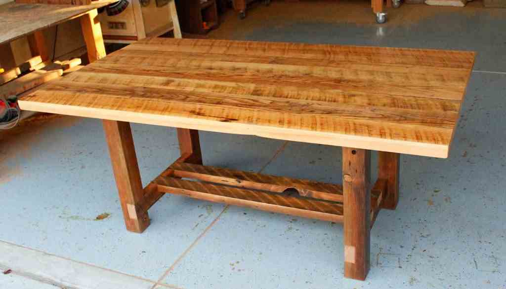 Picture of: reclaimed wood dining room table with leaf