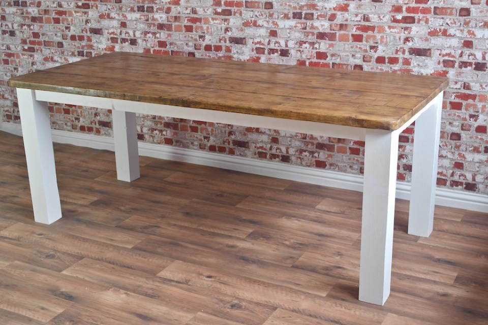 Picture of: Reclaimed Wood Dining Tables Paint