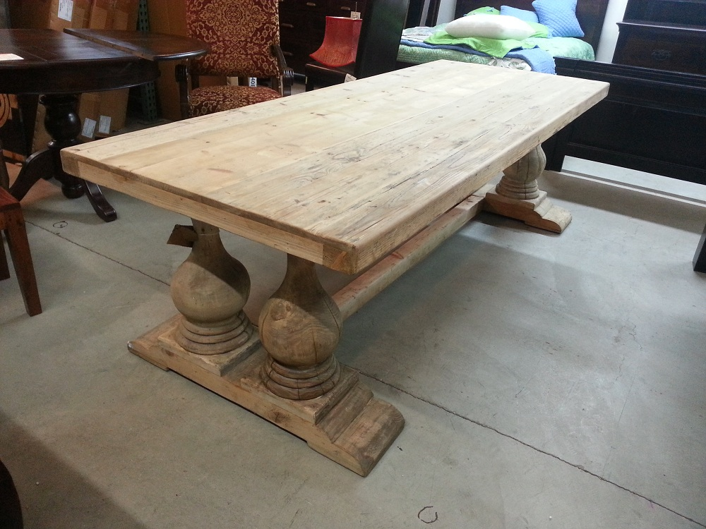 Picture of: reclaimed wood dining tables size