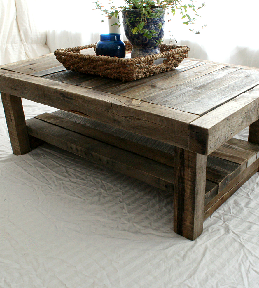 Image of: Reclaimed Wood End Table Barnwood