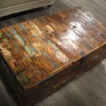 Reclaimed Wood End Table Bench