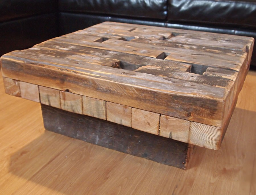 Image of: Reclaimed Wood End Table Coffee