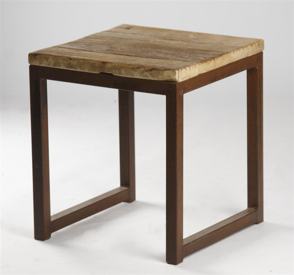 Image of: Reclaimed Wood End Table Rustic
