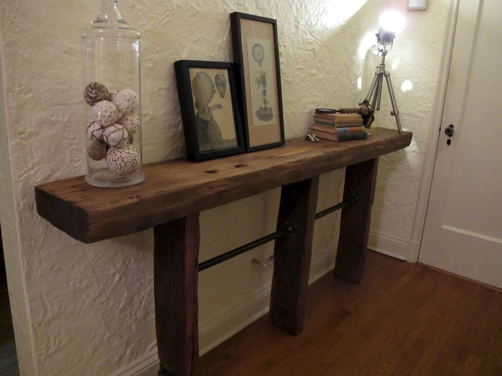 Reclaimed Wood End Tables DIY