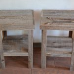Reclaimed Wood End Tables Squere