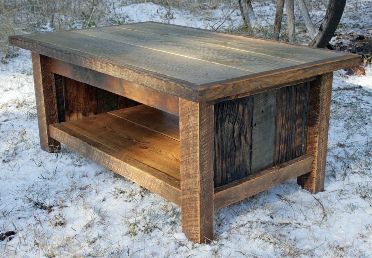 Picture of: Reclaimed Wood End Tables With Natural Color