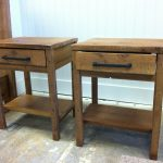 Reclaimed Wood End Tables With Storage