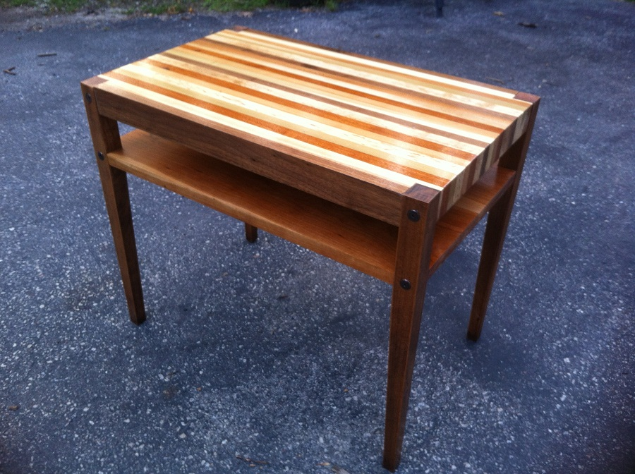 Reclaimed Wood Side Table Furniture